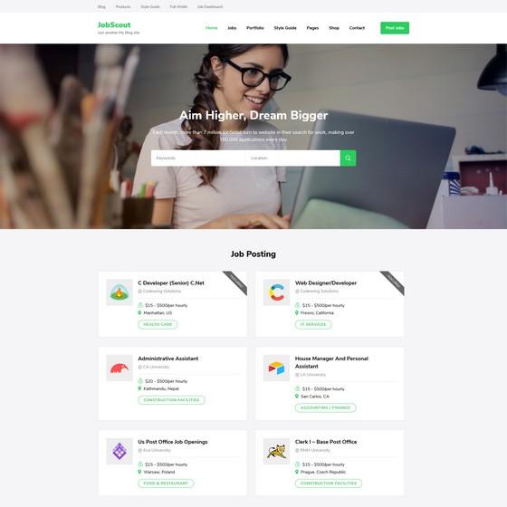 JobScout premium wordpress themes