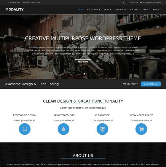 Modality premium wordpress themes