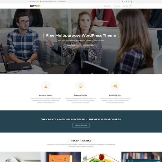 Owner premium wordpress themes