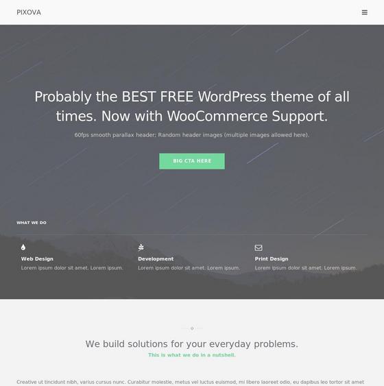 Pixova Lite premium wordpress themes