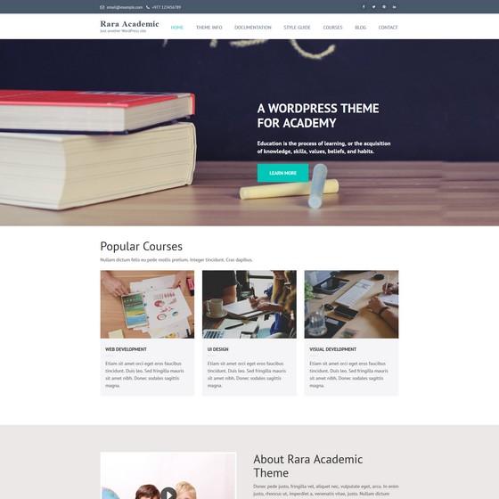 Rara Academic premium wordpress themes
