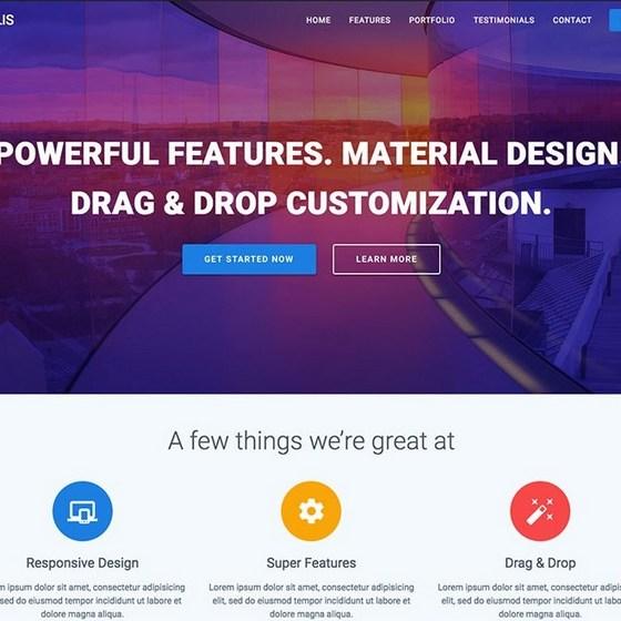 Materialis premium wordpress themes