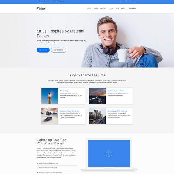 Sirius Lite premium wordpress themes