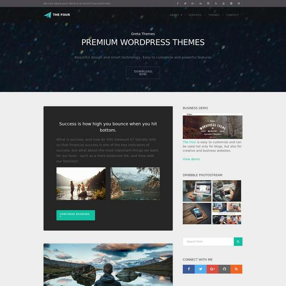 TheFour Lite premium wordpress themes
