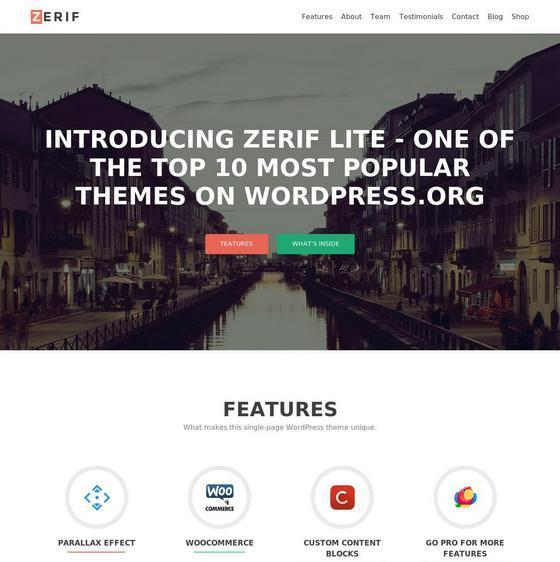 Zerif Lite premium wordpress themes