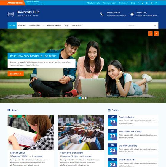 University Hub premium wordpress themes