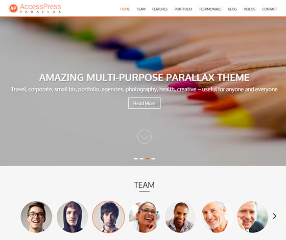 AccessPress Parallax premium wordpress themes