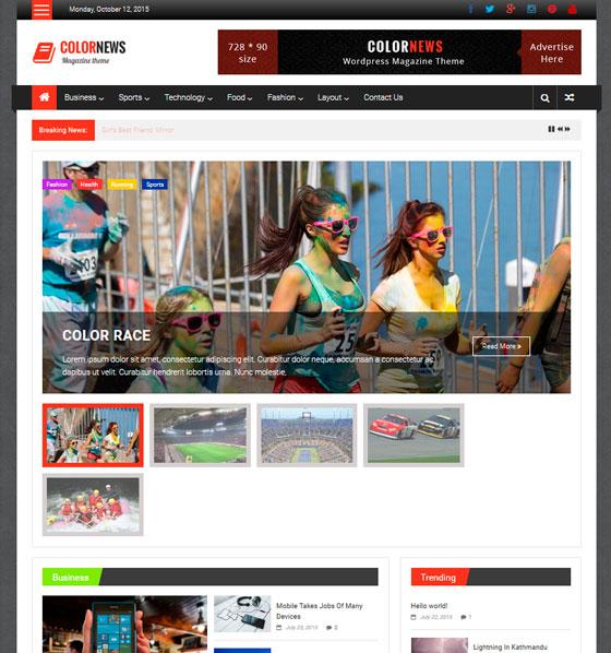 ColorNews premium wordpress themes