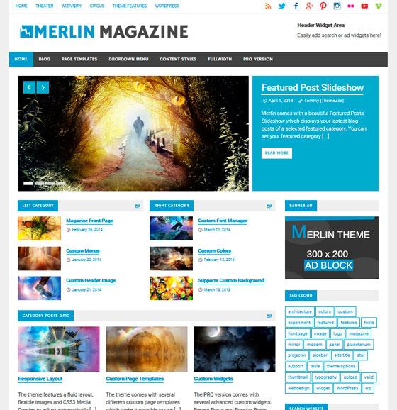 Merlin premium wordpress themes