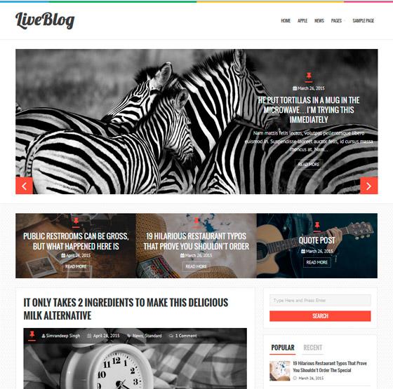 LiveBlog premium wordpress themes