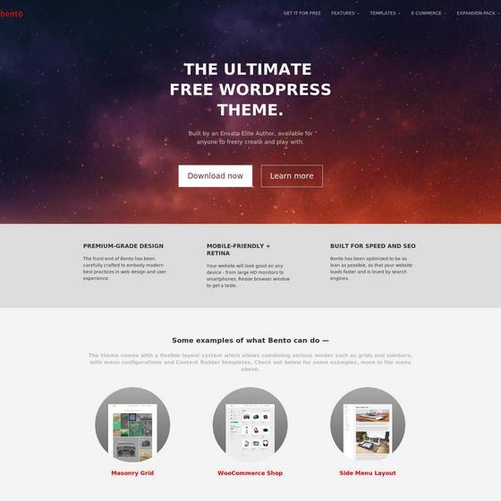 Bento premium wordpress themes
