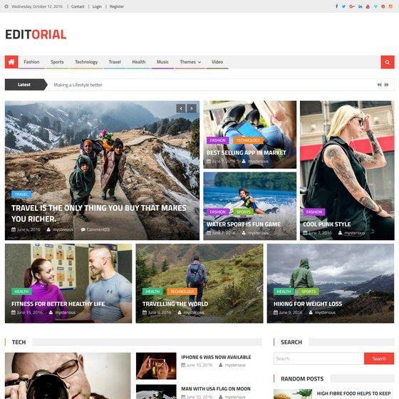Editorial premium wordpress themes