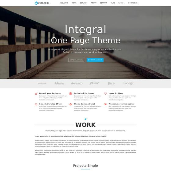 Integral premium wordpress themes