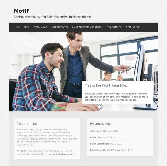 Motif premium wordpress themes