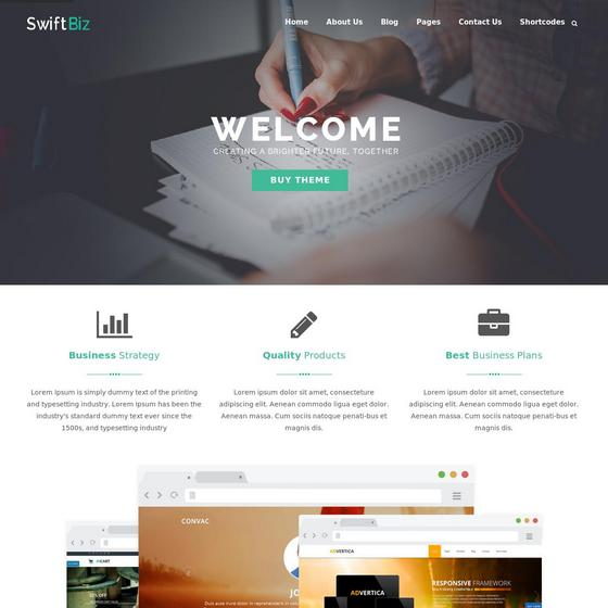 Swiftbiz Lite premium wordpress themes