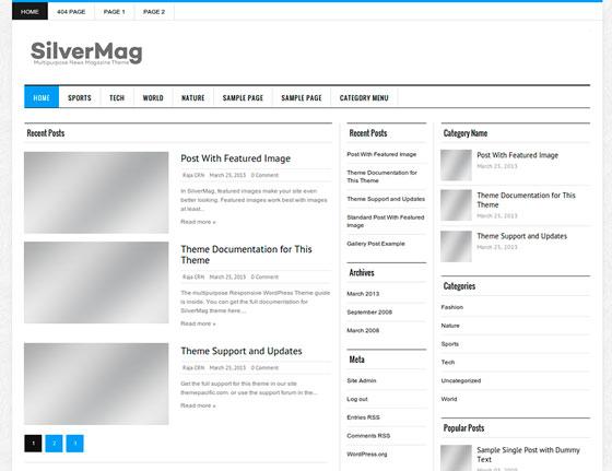 Silver Mag Lite premium wordpress themes