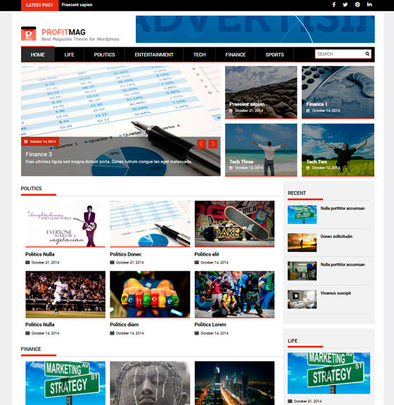 ProfitMag premium wordpress themes