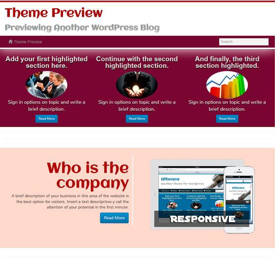 Athenea premium wordpress themes