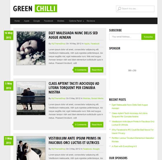 GreenChilli premium wordpress themes