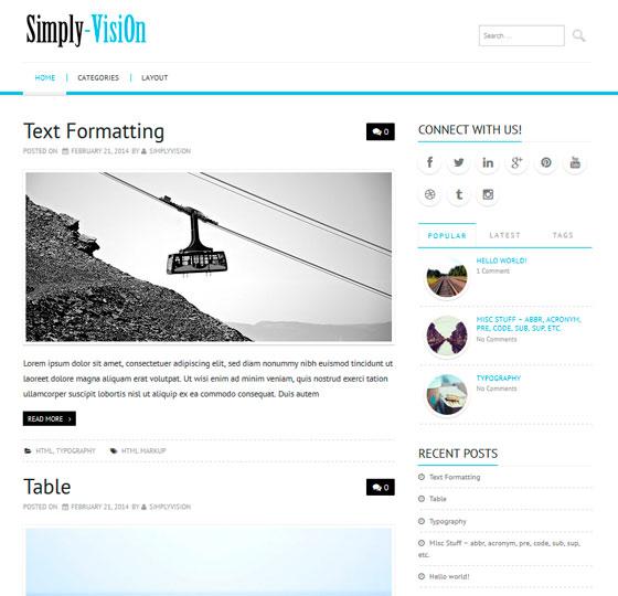 Simply-VisiOn premium wordpress themes