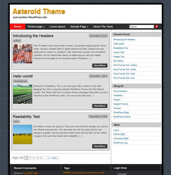 Asteroid premium wordpress themes