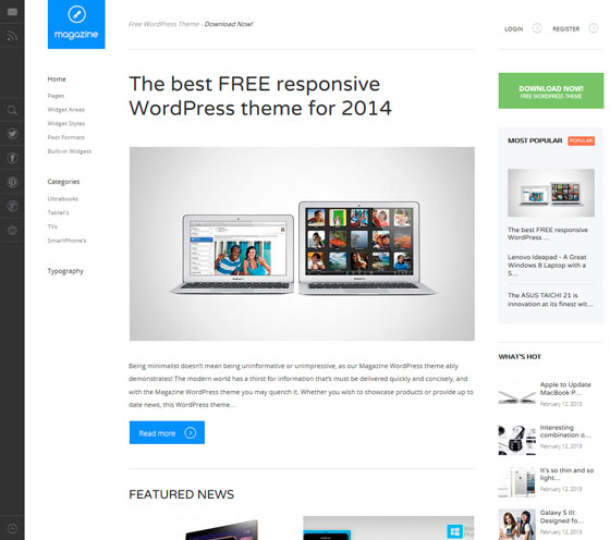 Magazine premium wordpress themes
