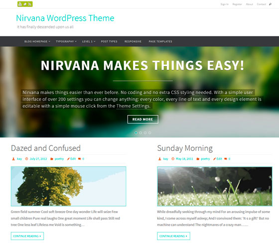 Nirvana premium wordpress themes