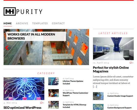 MH Purity lite premium wordpress themes