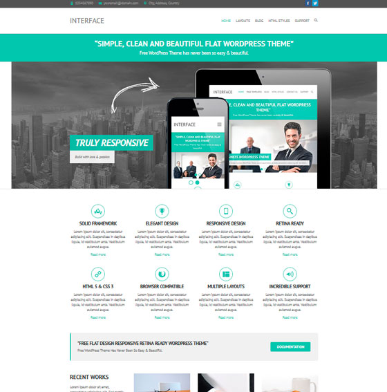 Interface premium wordpress themes