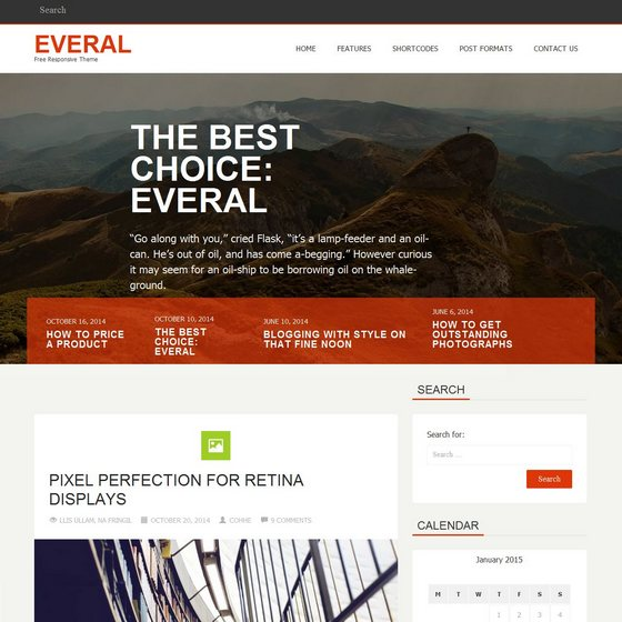 Everal premium wordpress themes
