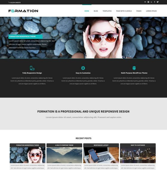 Formation premium wordpress themes
