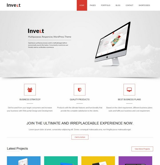 Invert premium wordpress themes