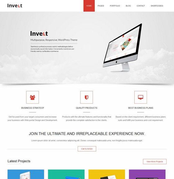 Invert premium wordpress themes