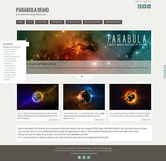 Parabola premium wordpress themes