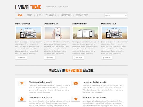 Hannari premium wordpress themes