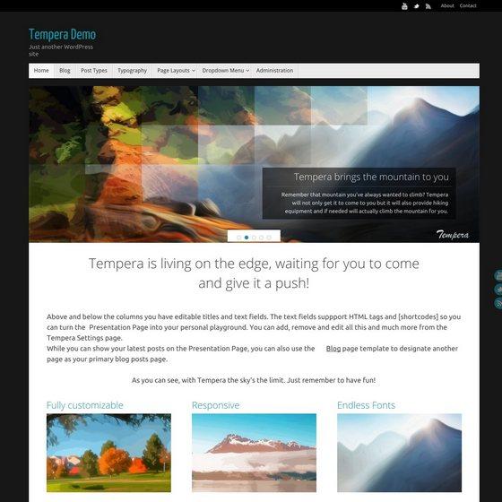Tempera premium wordpress themes