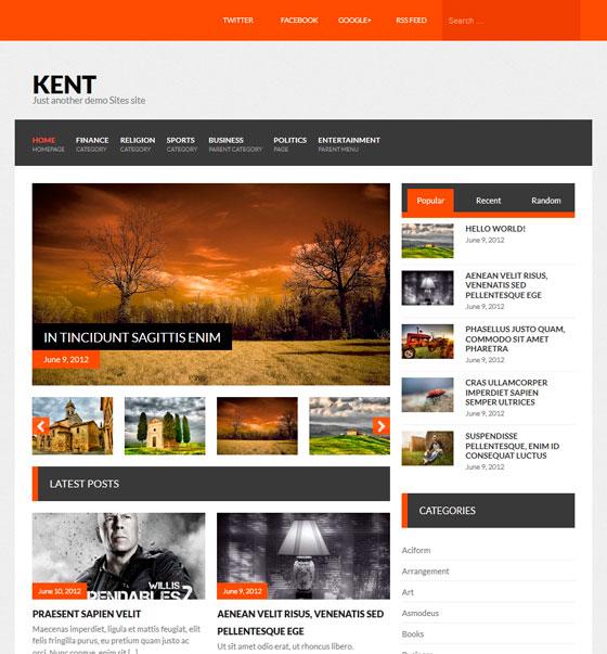 Kent premium wordpress themes