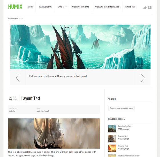 Humix premium wordpress themes