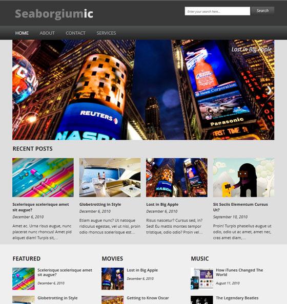 Seaborgiumic premium wordpress themes