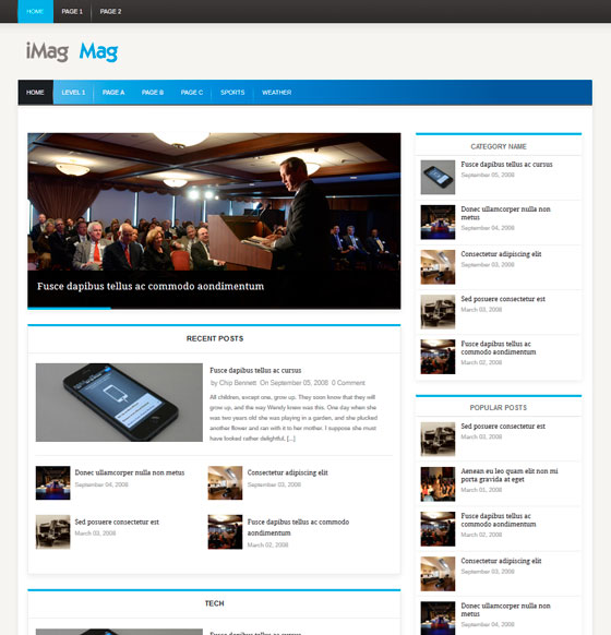 iMag Mag premium wordpress themes