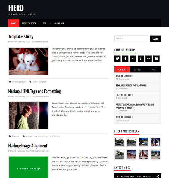 Hiero premium wordpress themes