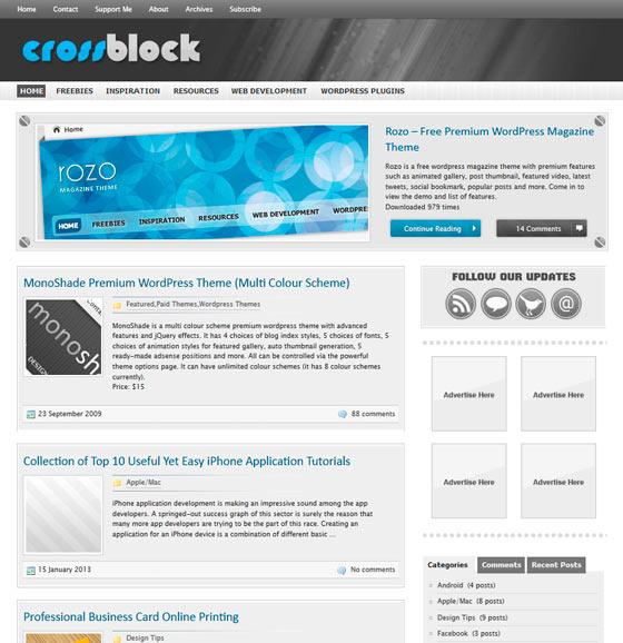 CrossBlock premium wordpress themes