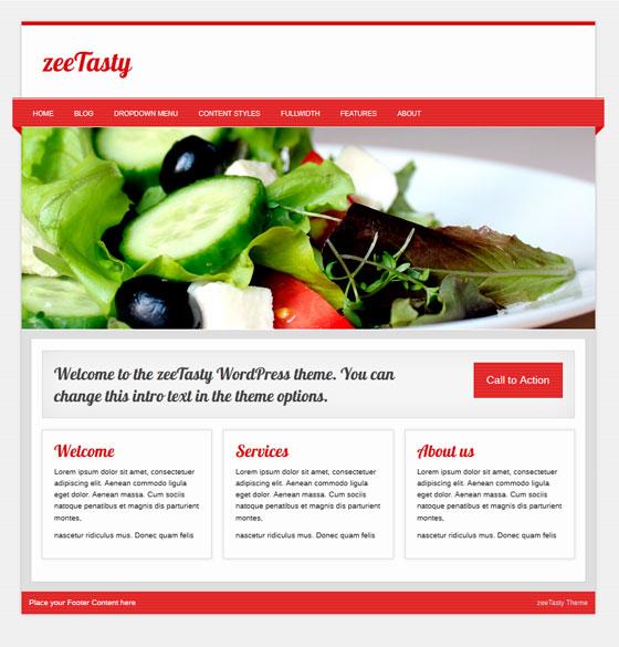 zeeTasty premium wordpress themes