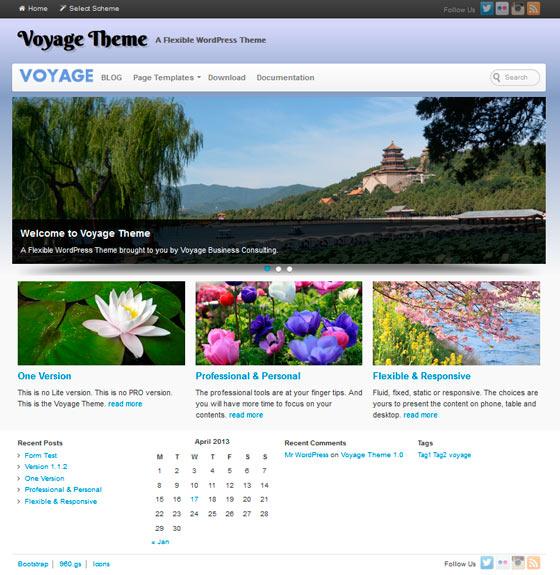 Voyage premium wordpress themes