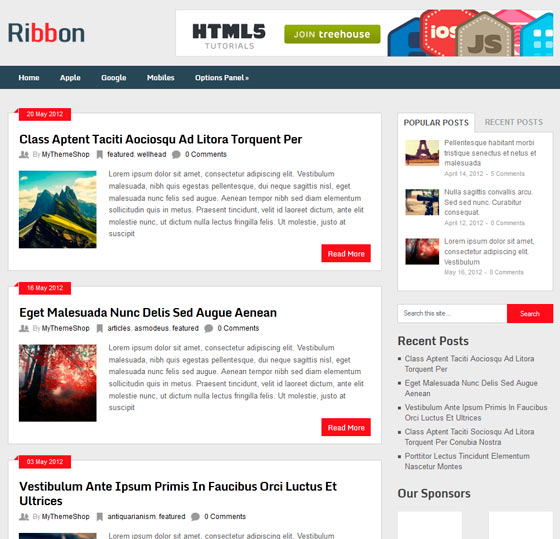 Ribbon premium wordpress themes