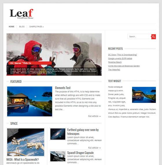 Leaf premium wordpress themes