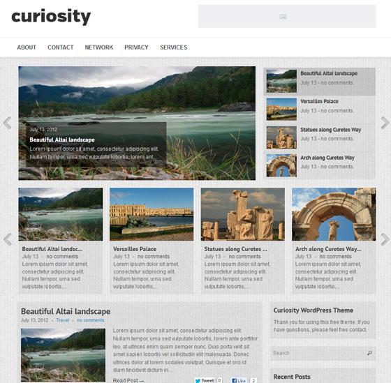 Curiosity premium wordpress themes